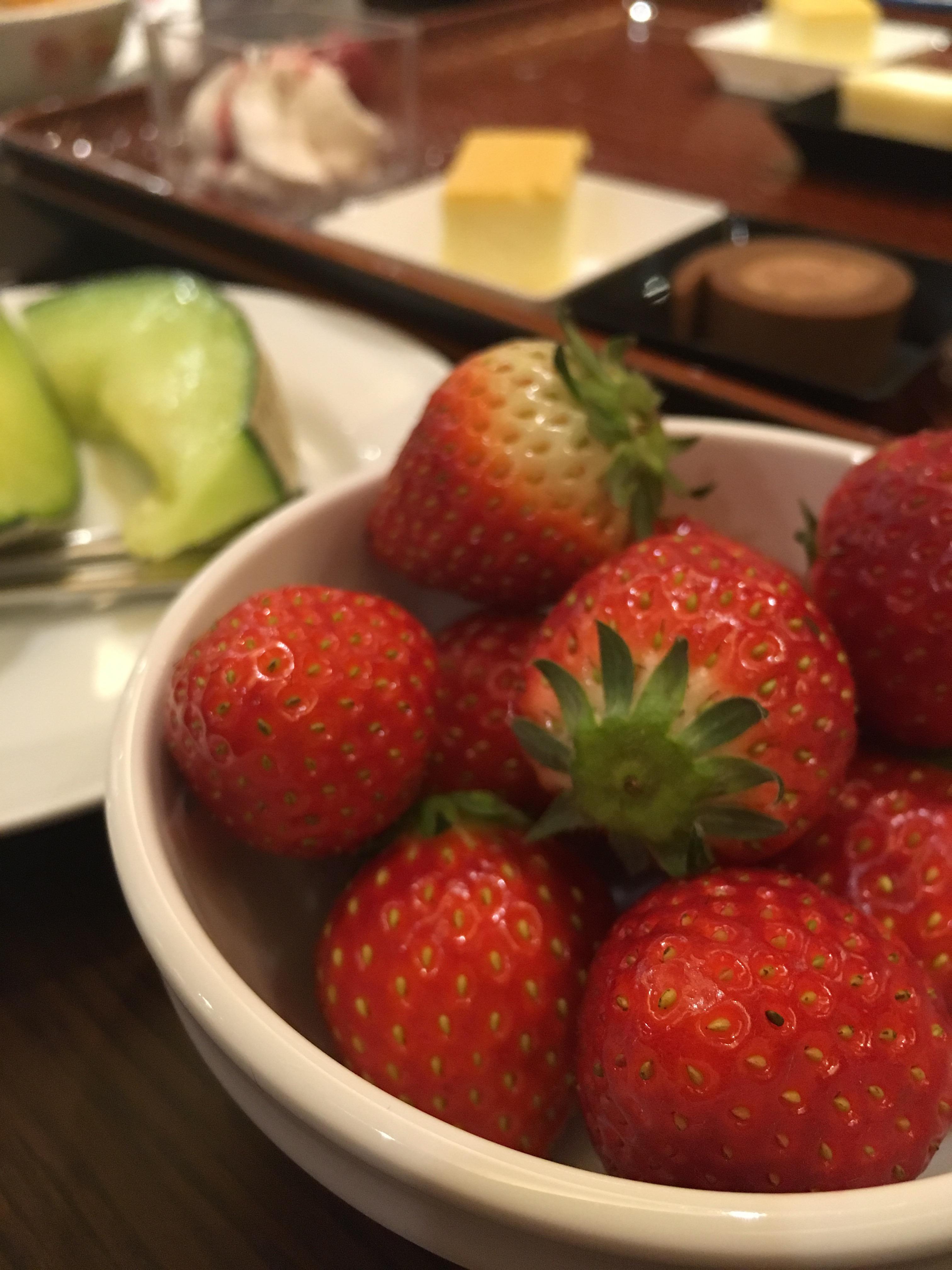 あさやホテル 夕食バイキング イチゴ
