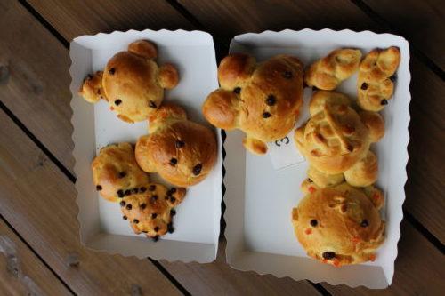 富士サファリパーク パン作り体験 焼き上がりパン