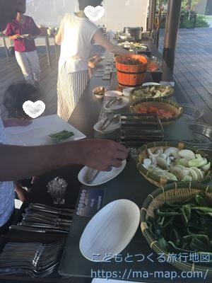 フサキリゾートヴィレッジ シーサイドBBQ 夏至南風 バイキング野菜など
